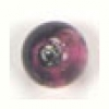 Glass Lamp Bead Round 8mm Amethyst/Silver Lined